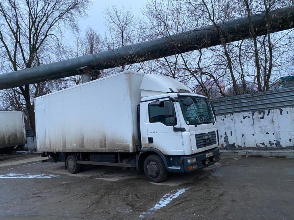ман грузовой белый